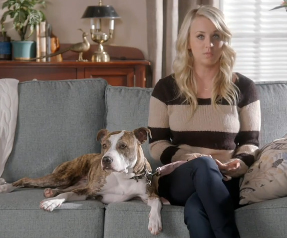 Dog: Shirley / Guardian: Kaley Cuoco