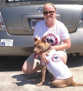 Danielle and Ginger met at Pick a Pit I. They are wearing matching tees from the event. Credit: Danielle Moore